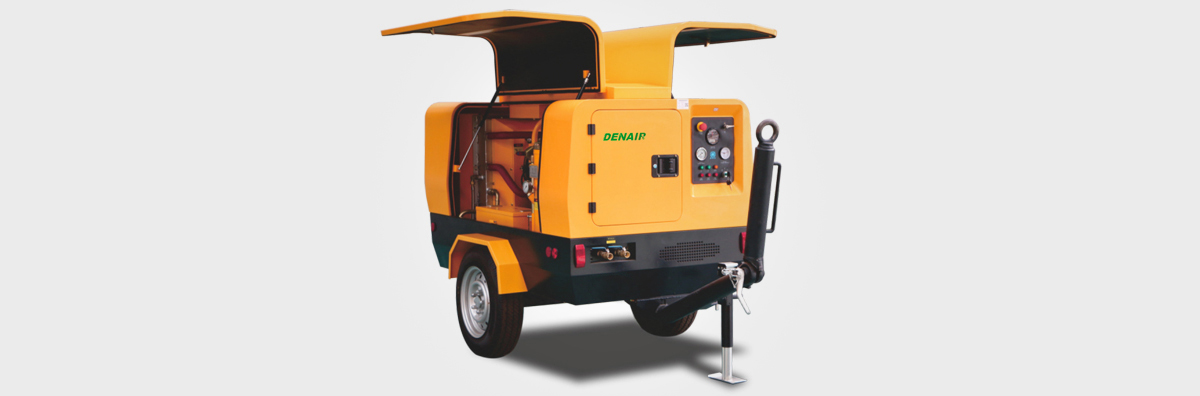 Эффективный дизельный компрессор с 2-х ступенчатым сжатием