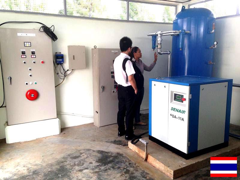 DENAIR Воздушный компрессор для обработки воды в Таиланде