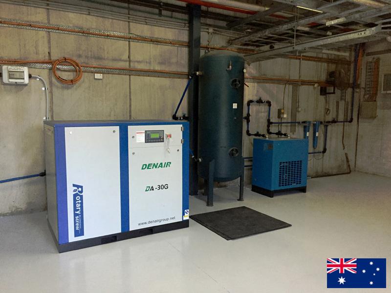 DENAIR 30 кВт Винтовой воздушный компрессор для покраски в Австралии