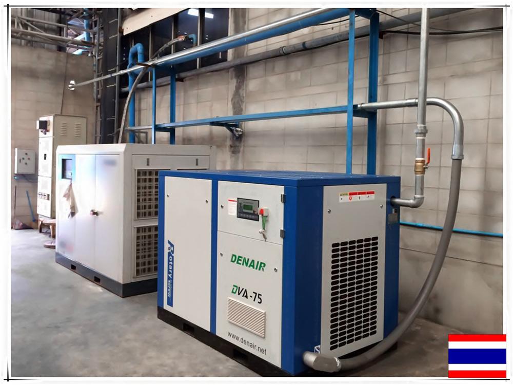 DENAIR воздушный компрессор используется для каучуковой промышленности в Таиланде