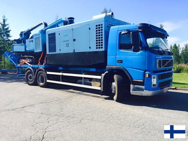 Компрессор и буровая установка DENAIR в Финляндии