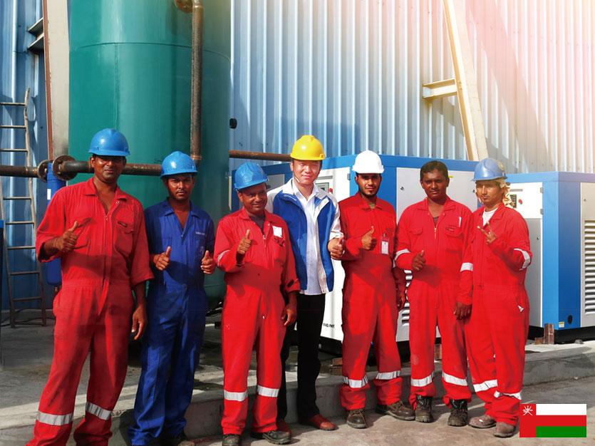 Воздушный компрессор DENAIR под заказ и его обслуживание в Омане