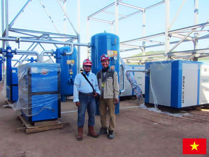Винтовой воздушный компрессор DENAIR для нефтеперерабатывающего завода во Вьетнаме