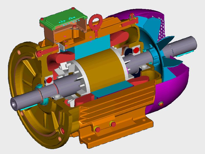 воздушный компрессор с эл.двигателем на постоянных магнитах