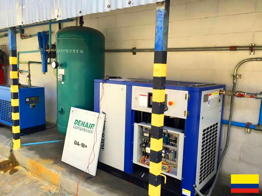 Энергосберегающий воздушный компрессор DENAIR в Колумбии