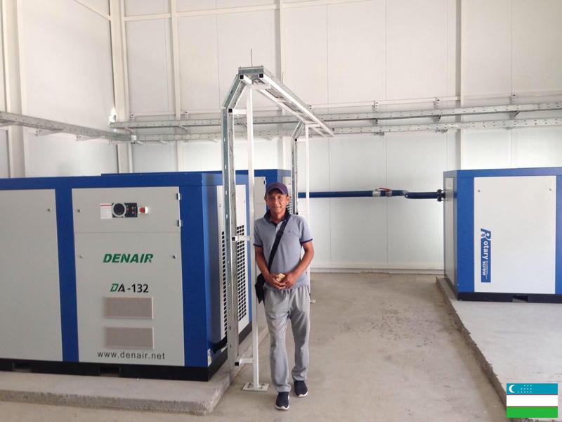 Винтовые компрессоры DENAIR для пищевой промышленности на заводе АКФА