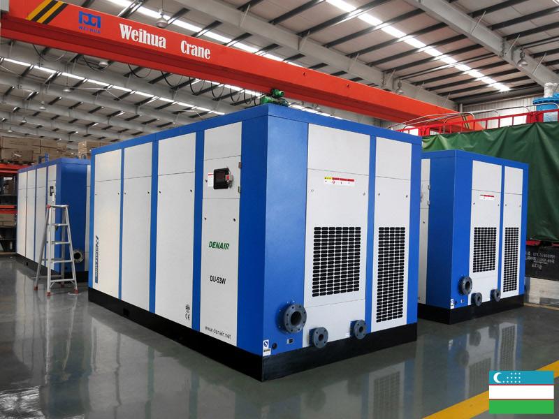 Винтовые компрессоры DENAIR для горнодобывающая промышленность на заводе НГМК